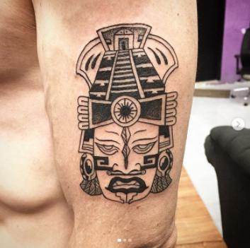 Tzinacan tattoo