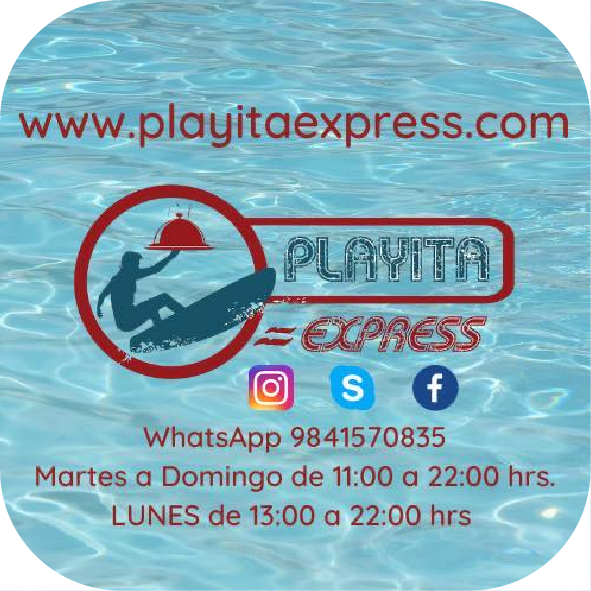 Playita Express - options for delivery in Playa del Carmen